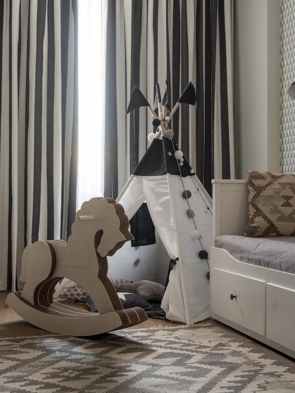 Фотография: Детская в стиле Скандинавский, Квартира, Проект недели, Мила Колпакова, Мытищи, Монолитный дом, 3 комнаты, 60-90 метров, ЖК «Квартал 9-18» – фото на InMyRoom.ru