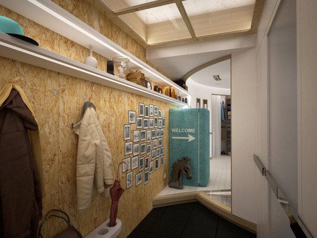 Фотография: Прихожая в стиле Лофт, Современный, Эклектика, Квартира, Перепланировка – фото на InMyRoom.ru