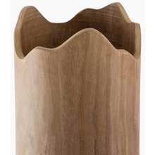 Ваза Footed Wooden on Stainless Steel Pillar