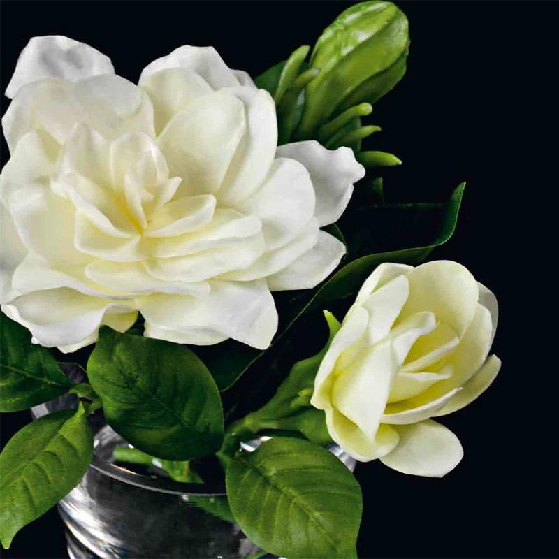 Искусственные цветы Гардения из пластика 15 см