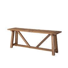 Скамья из дуба обработана вручную 75x200x50 см