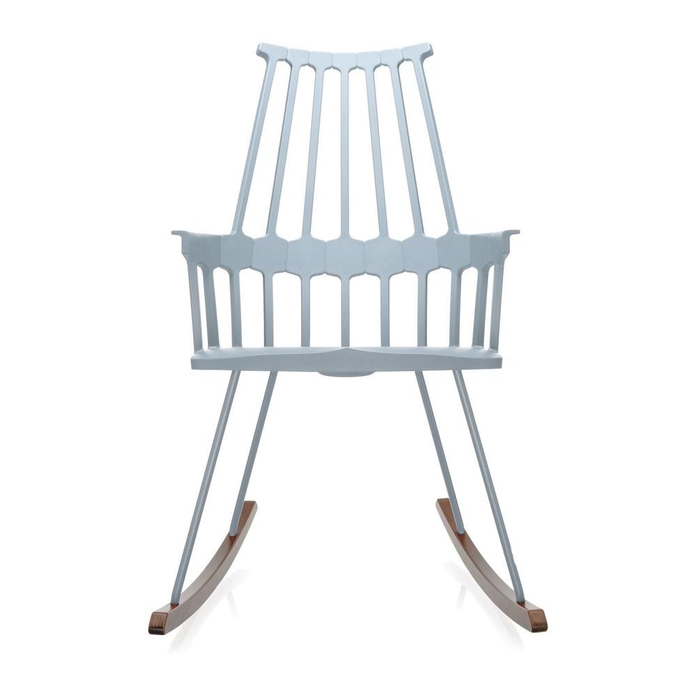 Кресло-качалка Comback голубого цвета
