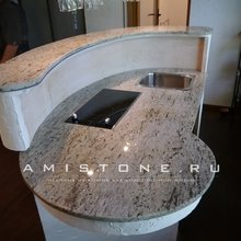 Фото из портфолио Столешница на кухню из натурального камня ( гранита  Antique White) – фотографии дизайна интерьеров на INMYROOM