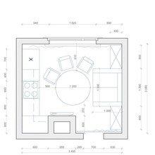 Фотография: Планировки в стиле , Кухня и столовая, Декор интерьера, Интерьер комнат, Тема месяца – фото на InMyRoom.ru