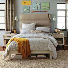 Фотография: Спальня в стиле Современный, Декор интерьера, Интерьер комнат, Текстиль – фото на InMyRoom.ru