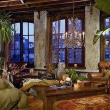 Фотография: Гостиная в стиле Кантри, Лофт, Декор интерьера, Квартира, Дома и квартиры, Интерьеры звезд – фото на InMyRoom.ru