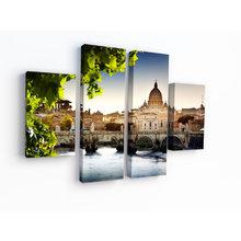 """Интерьерная модульная картина на стену """"Столица Италии"""""""
