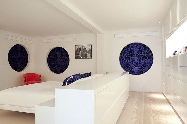 Фотография: Спальня в стиле Современный, Квартира, Дома и квартиры, Архитектурные объекты – фото на InMyRoom.ru