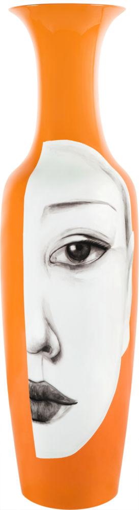 Ваза напольная Orange оранжевого цвета