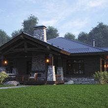 Фото из портфолио Home in the Woods дома – фотографии дизайна интерьеров на INMYROOM