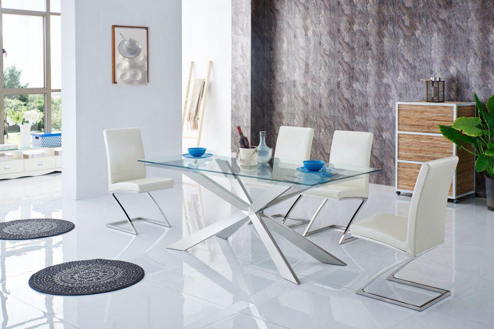 Купить Обеденная группа из стола и четырех бежевых стульев, inmyroom, Китай