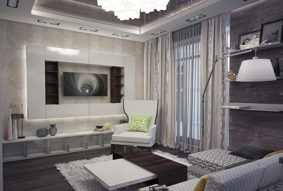 Фотография: Гостиная в стиле Современный, Эклектика, Квартира, Дома и квартиры, Проект недели – фото на InMyRoom.ru