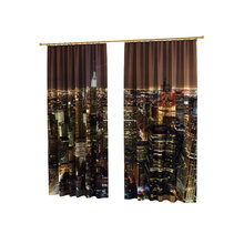 Фотошторы в гостиную: Ночные огни