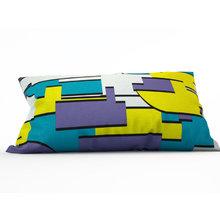 Декоративная подушка: Синий прямоугольник