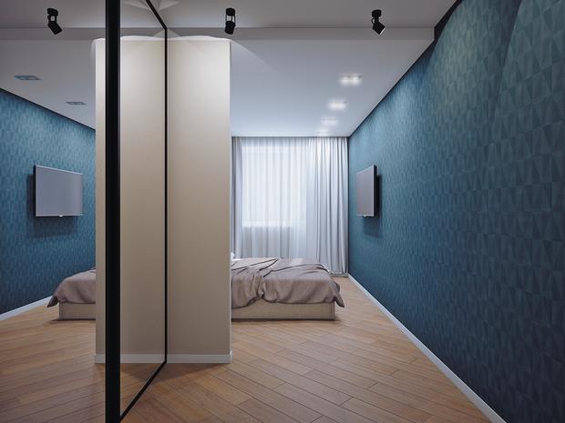 Фотография: Спальня в стиле Современный, Классический, Квартира, Планировки, Мебель и свет, Проект недели – фото на InMyRoom.ru