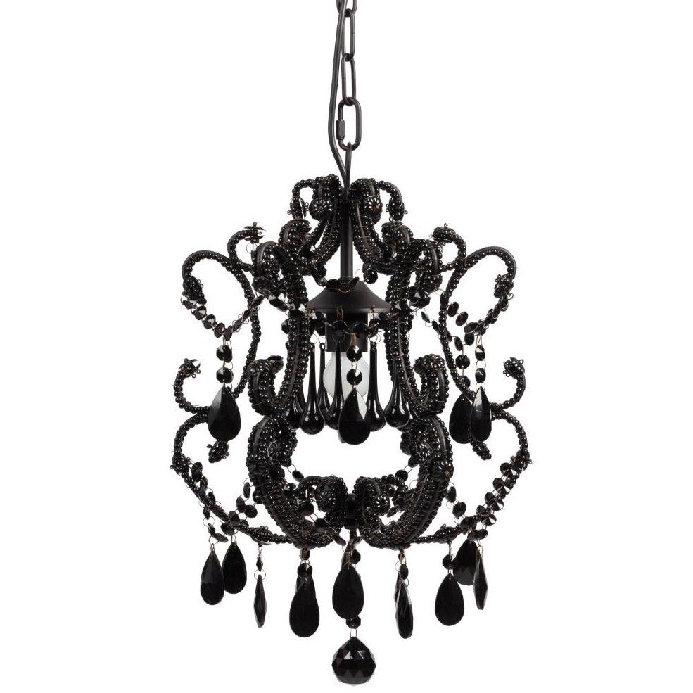 Люстра Maria Theresa с чёрными хрустальными подвесками
