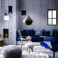 Фотография: Гостиная в стиле Кантри, Лофт, Декор интерьера, Дизайн интерьера, Цвет в интерьере – фото на InMyRoom.ru