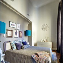 Фотография: Спальня в стиле Эклектика, Квартира, Дома и квартиры, Перепланировка – фото на InMyRoom.ru