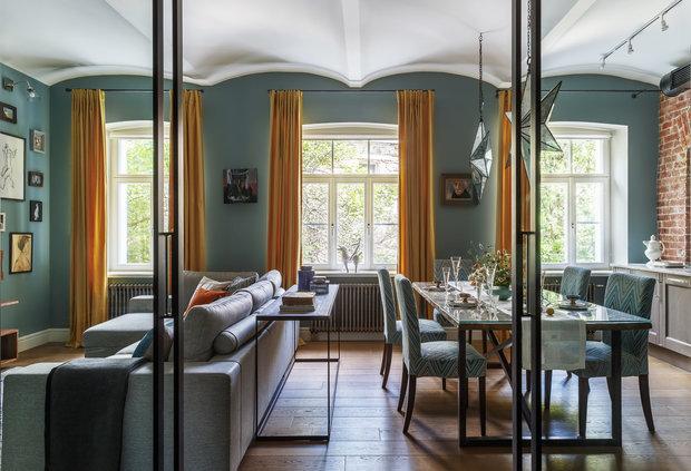 Фотография: Кухня и столовая в стиле Лофт, Гостиная, Эклектика, Декор интерьера, Старый фонд, Мария Пилипенко – фото на INMYROOM