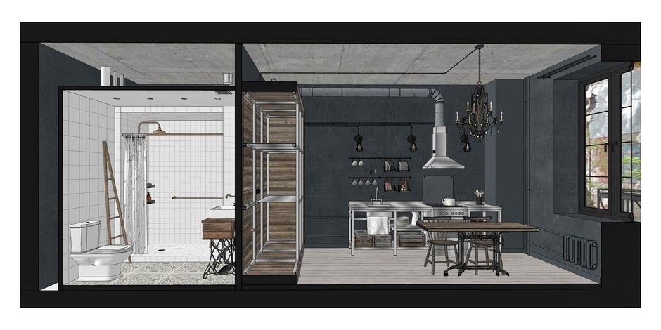 Фотография:  в стиле , Лофт, Квартира, Студия, Проект недели, Москва, Кирпичный дом, до 40 метров, INT2architecture – фото на InMyRoom.ru