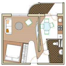 Фотография: Планировки в стиле , Квартира, Дома и квартиры, Перепланировка, Переделка – фото на InMyRoom.ru