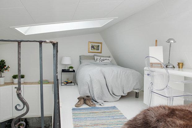 Фотография: Спальня в стиле Современный, Малогабаритная квартира, Квартира, Дома и квартиры – фото на InMyRoom.ru
