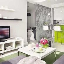 Фотография: Гостиная в стиле Современный, Малогабаритная квартира, Квартира, Мебель и свет, Дома и квартиры – фото на InMyRoom.ru