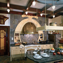 Фотография: Кухня и столовая в стиле Кантри, Дом, Дизайн интерьера, Ар-нуво – фото на InMyRoom.ru