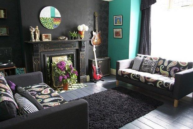 Фотография: Гостиная в стиле Современный, Эклектика, Декор интерьера, Декор дома, Ковер – фото на InMyRoom.ru