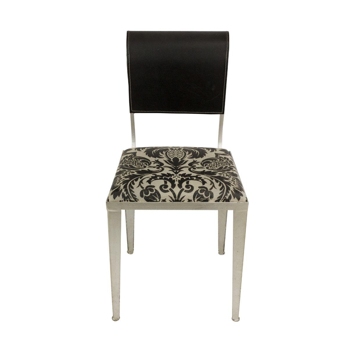Купить Стул Banci Lucrezia из ткани белого цвета с черным орнаментом, inmyroom, Италия
