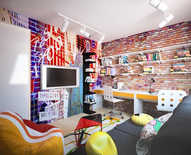 Фотография: Детская в стиле Лофт, Квартира, Дом, Дома и квартиры, Проект недели – фото на INMYROOM