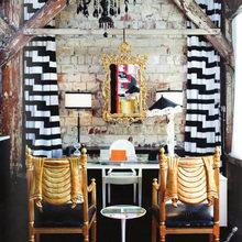 Фотография: Кухня и столовая в стиле Кантри, Эклектика, Кабинет, Интерьер комнат – фото на InMyRoom.ru