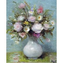 Картина (репродукция, постер): Roses in Opaline Vase - Марсель Дюф