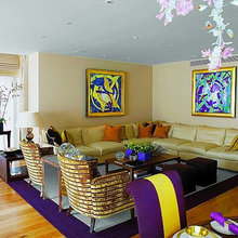 Фотография: Гостиная в стиле Современный, Эклектика, Декор интерьера, Дизайн интерьера, Цвет в интерьере – фото на InMyRoom.ru