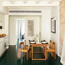 Фотография: Кухня и столовая в стиле Минимализм, Малогабаритная квартира, Квартира, Цвет в интерьере, Дома и квартиры, Зеленый – фото на InMyRoom.ru