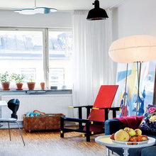 Фотография: Мебель и свет в стиле Эклектика, Скандинавский, Квартира, Швеция, Цвет в интерьере, Дома и квартиры, Белый – фото на InMyRoom.ru