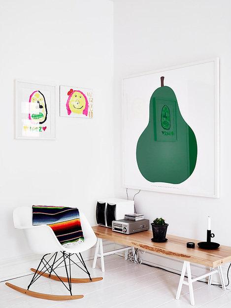 Фотография: Мебель и свет в стиле Скандинавский, Декор интерьера, Квартира, Цвет в интерьере, Дома и квартиры, Стены, Пол – фото на InMyRoom.ru