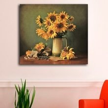 """Стильная картина для декора стен """"Полевые подсолнухи"""""""