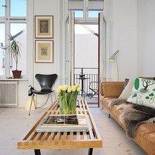 Фотография: Гостиная в стиле Скандинавский, Малогабаритная квартира, Квартира, Мебель и свет, Дома и квартиры, Стокгольм – фото на InMyRoom.ru