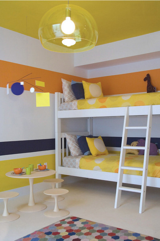 Фотография: Детская в стиле Современный, Декор интерьера, Дизайн интерьера, Цвет в интерьере, Желтый – фото на InMyRoom.ru