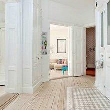 Фотография:  в стиле Скандинавский, Квартира, Швеция, Цвет в интерьере, Дома и квартиры, Белый, Шебби-шик – фото на InMyRoom.ru