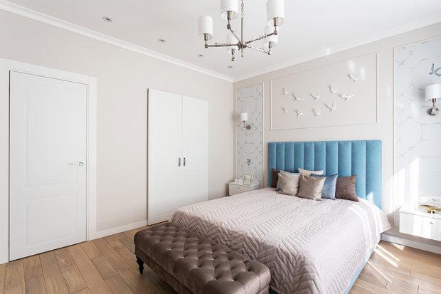 Фотография: Спальня в стиле Современный, Квартира, Проект недели, Москва, 2 комнаты, 40-60 метров, Марина Светлова – фото на INMYROOM
