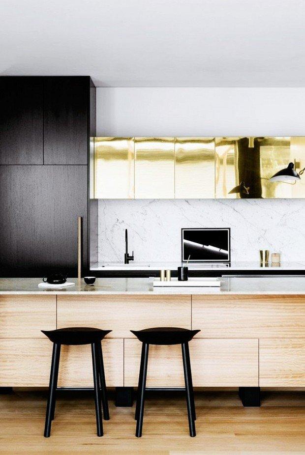 Фото из портфолио Латунь : смелое решение в дизайне кухни!!! – фотографии дизайна интерьеров на INMYROOM