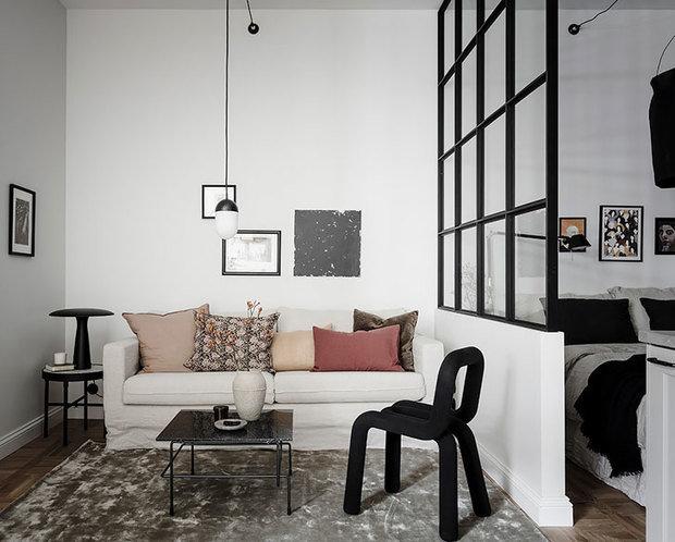 Фотография: Гостиная в стиле Скандинавский, Малогабаритная квартира, Квартира, Студия, Швеция, до 40 метров – фото на InMyRoom.ru
