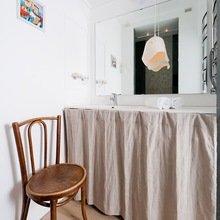 Фотография: Ванная в стиле Кантри, Скандинавский, Современный, Малогабаритная квартира, Квартира, Цвет в интерьере, Дома и квартиры, Переделка – фото на InMyRoom.ru