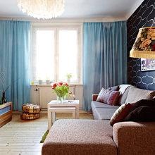 Фотография: Гостиная в стиле Современный, Скандинавский, Малогабаритная квартира, Квартира, Швеция, Дома и квартиры – фото на InMyRoom.ru