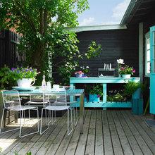 Фотография: Терраса в стиле Кантри, Дом, Цвет в интерьере, Дома и квартиры, Бирюзовый – фото на InMyRoom.ru