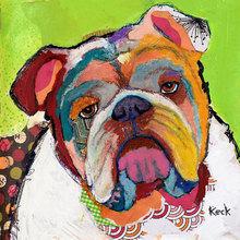 Картина (репродукция, постер): Американский бульдог - Майкл Кек