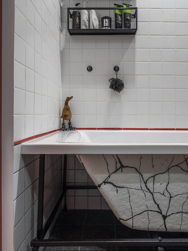 Фотография: Ванная в стиле Скандинавский, Эклектика, Квартира, Проект недели, Москва, Виктория Золина, Zi-Design Interiors, П-44, Панельный дом, 1 комната, до 40 метров – фото на INMYROOM