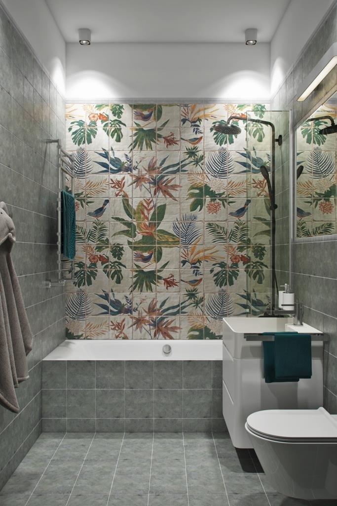 Фотография: Ванная в стиле Современный, Квартира, Проект недели, Москва, Монолитный дом, 3 комнаты, 60-90 метров, Алена Чекалина – фото на InMyRoom.ru